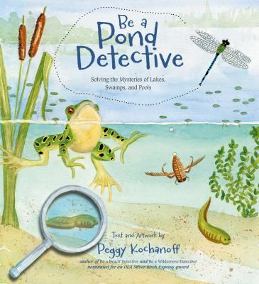From the life cycle of mosquitoes to the many uses and varieties of pond plants, naturalist and artist Peggy Kochanoff takes young readers on an entertaining and enlightening tour of life in and around a freshwater pond. Full of detailed illustrations and clear answers to creative questions, Be a Pond Detectiveis the perfect way to discover the nature mysteries in your own backyard!
