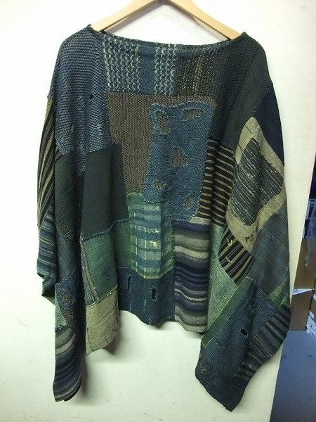 Patchwork using old sweaters  #recycle
