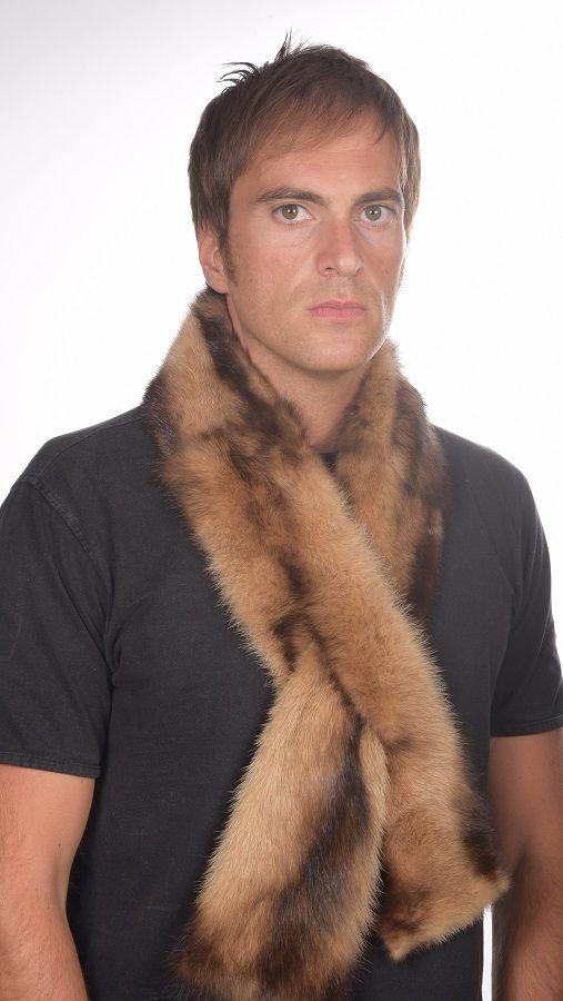 Sciarpa in pelliccia di sibella polare per uomo   www.amifur.it