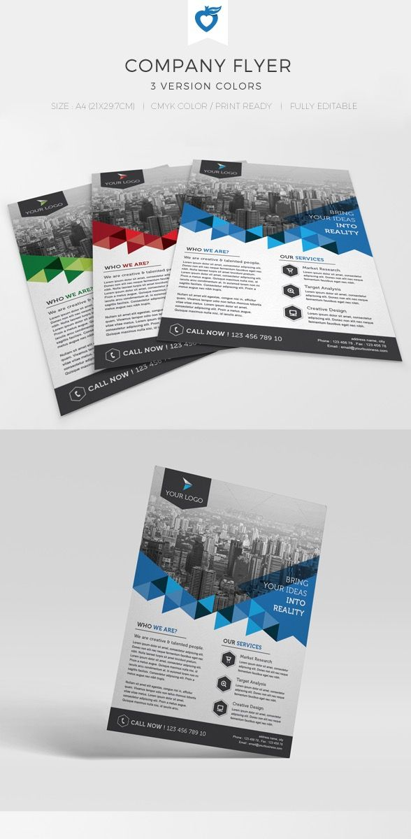 Company Flyer Design Template