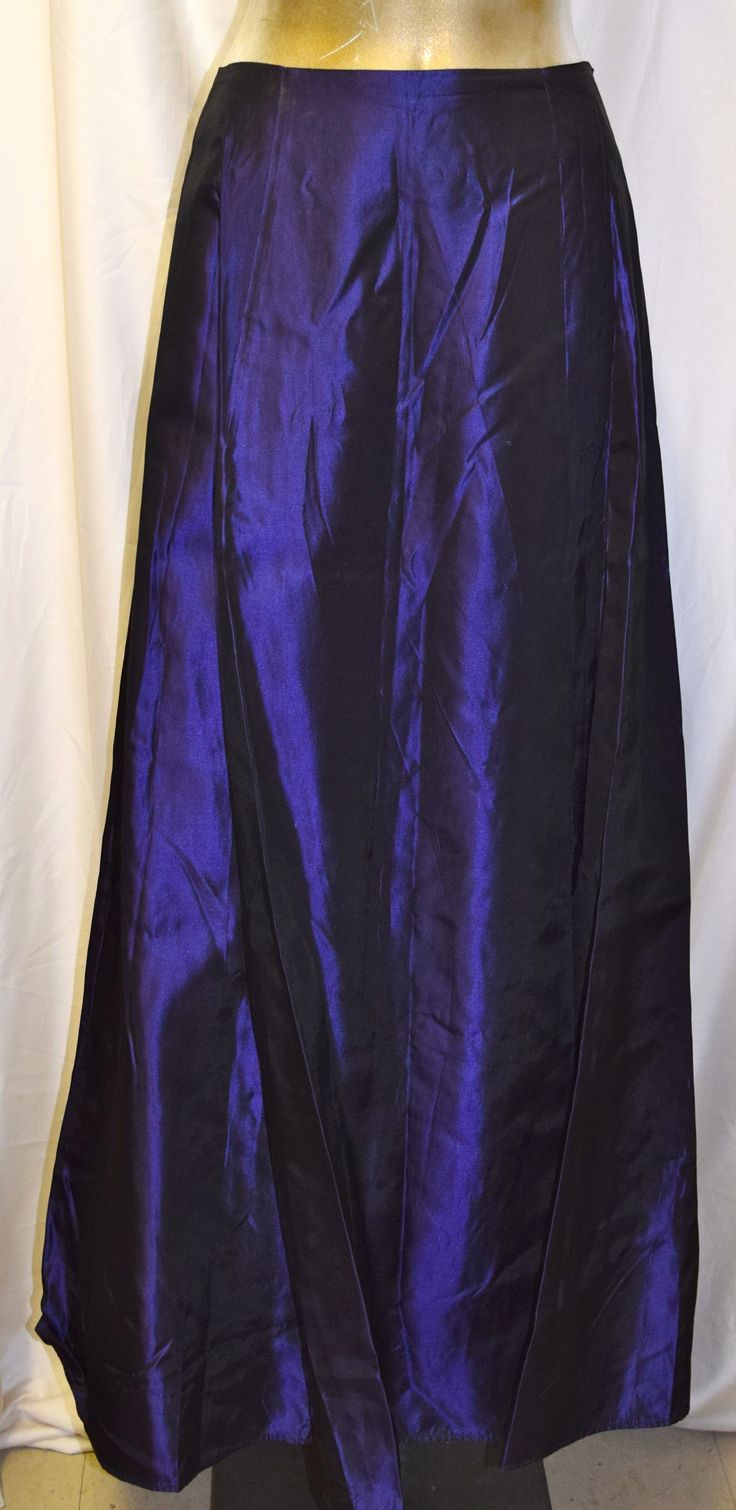Vintage Ricki's Deep Purple Long Formal Skirt
