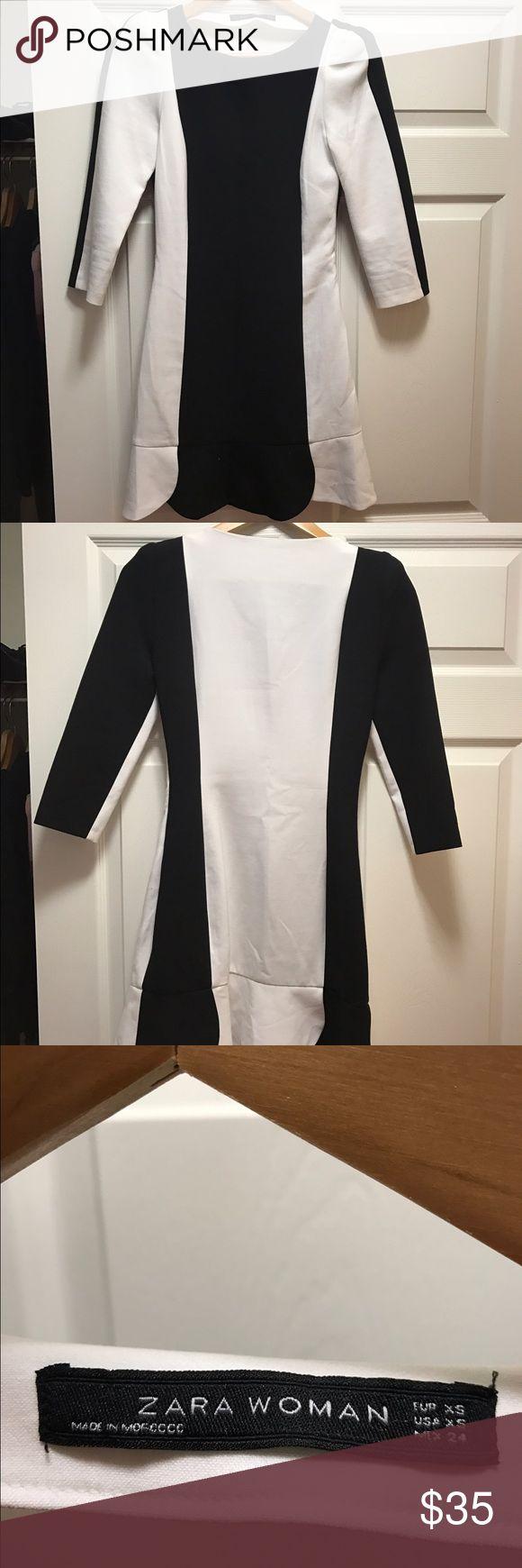 Zara Woman Black And White Mini Dress Super sexy! Worn only few times. Very good condition. Size XS. Zara Dresses Mini