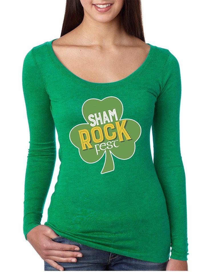 Women's Shirt Shamrock Fest St Patrick's Day Party Shirt  #stpatricksday #irish #shamrock #festival #longsleeve