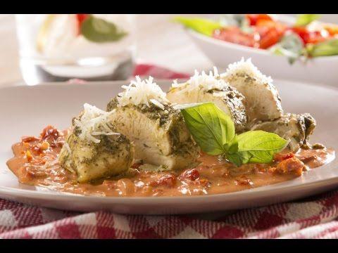 Pechuga de Pollo a la Italiana con Pesto y Salsa Cremosa de Jitomate - YouTube