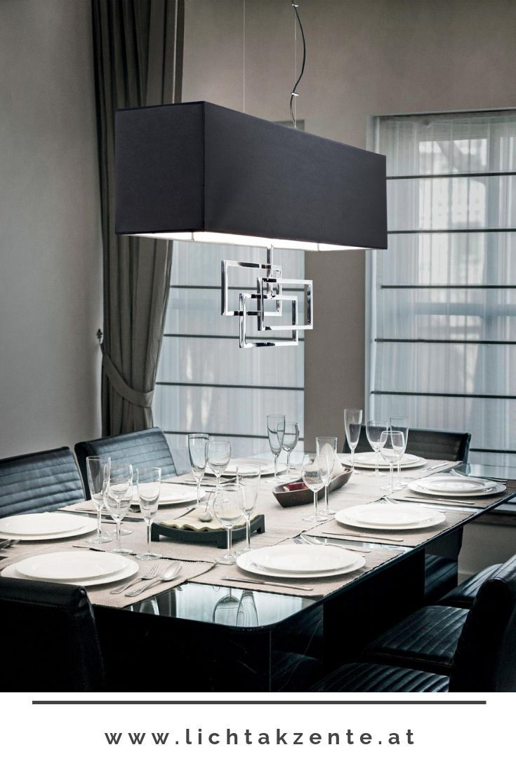 Ideal Lux Eckige Hangelampe Luxury Schwarz Esstisch Beleuchtung