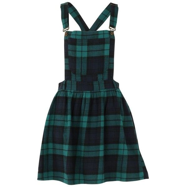 SoulCal Check Pinafore Dress ($23) ❤ liked on Polyvore featuring dresses, skirts, jumpsuits, checkered dress, checked dress and pinafore dress