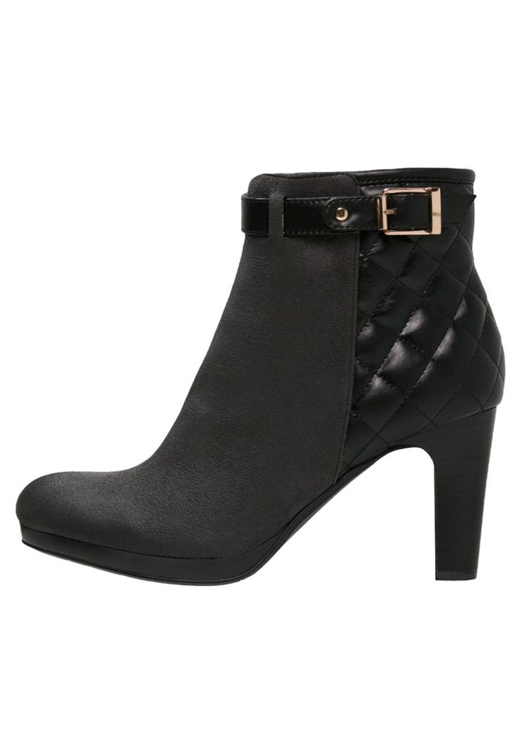 Divine Factory Korte laarzen gris/noir, 41.95, http://kledingwinkel.nl/shop/dames/divine-factory-korte-laarzen-grisnoir/
