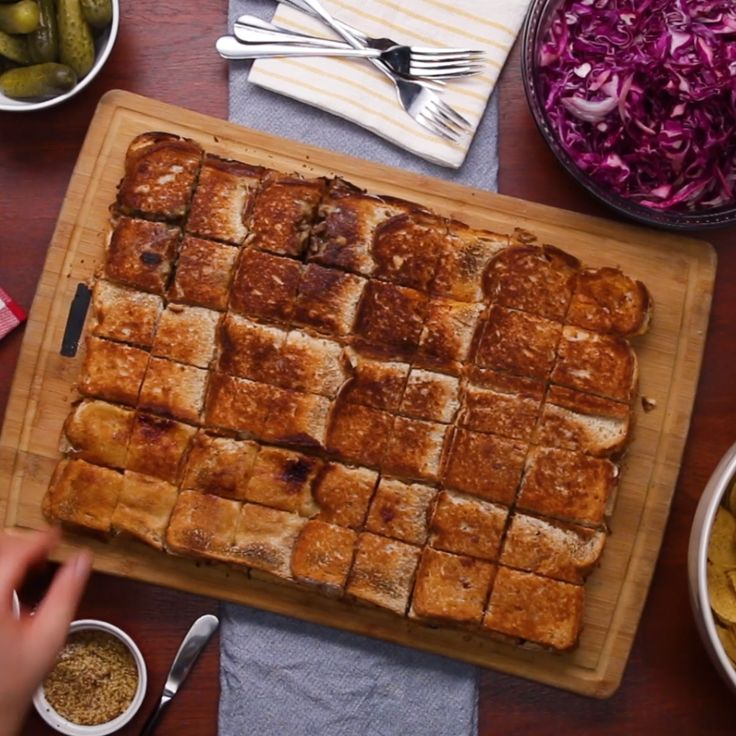 Sheet pan party paninis