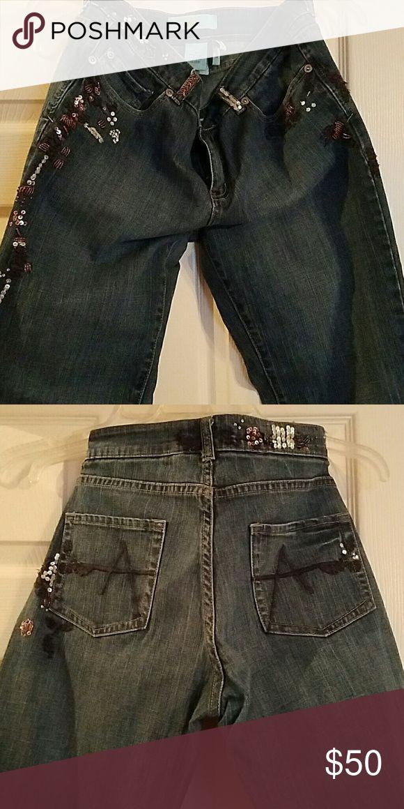 Armani Exchange sequin jeans Sequin Jeans AX Armani Exchange Jeans Boot Cut