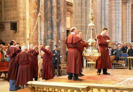 Incense bowl swinging in spanish church