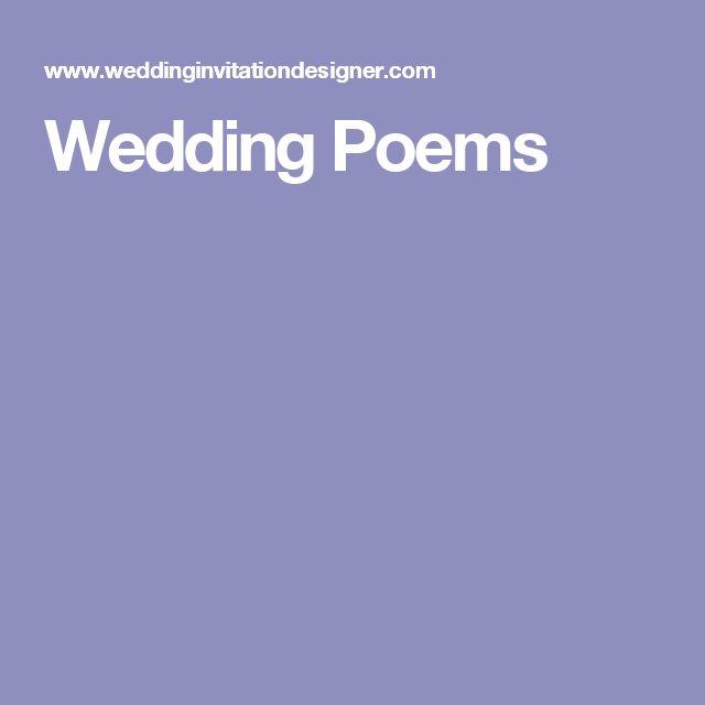 Shel Silverstein Wedding Reading: 25+ Best Wedding Poems Trending Ideas On Pinterest