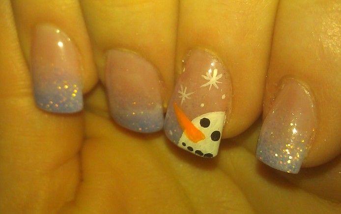 Snowman nail                                                                                                                                                                                 More