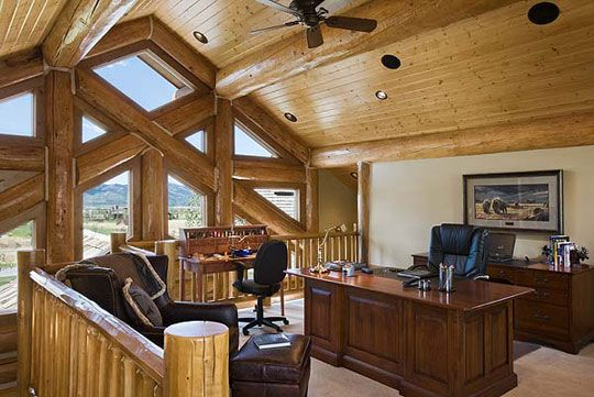 Log Home Office : Best images about log cabin on pinterest lakes