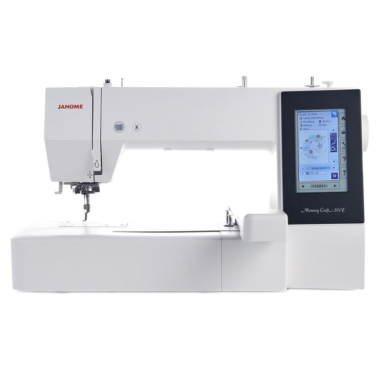 The embroidery only model: Janome Memory Craft 500E - for more info visit www.janome.com.au