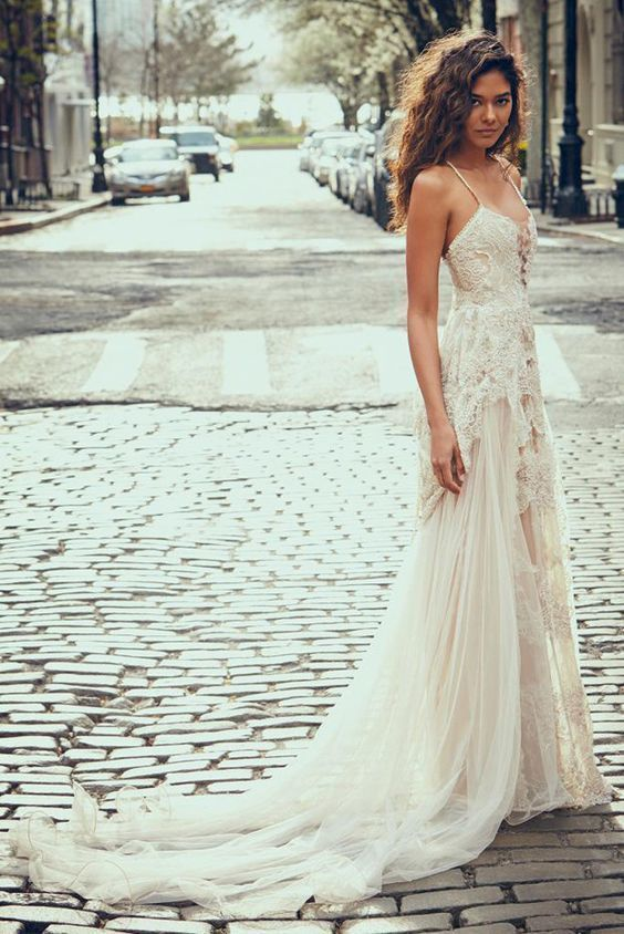 Bohemian wedding dress beach wedding dresses  by DestinyDress, $325.00 USD