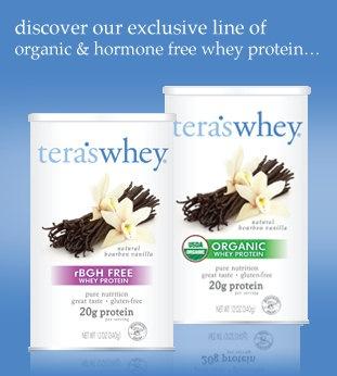 Terr's Whey.  Organic whey protein powder.