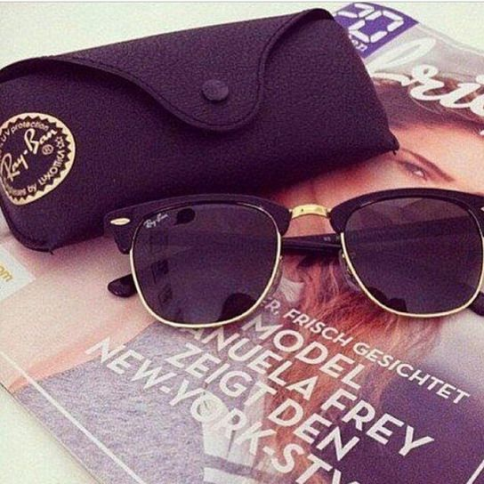 Ray Ban Clubmaster (I guess I need another pair since someone stole mine, haha)