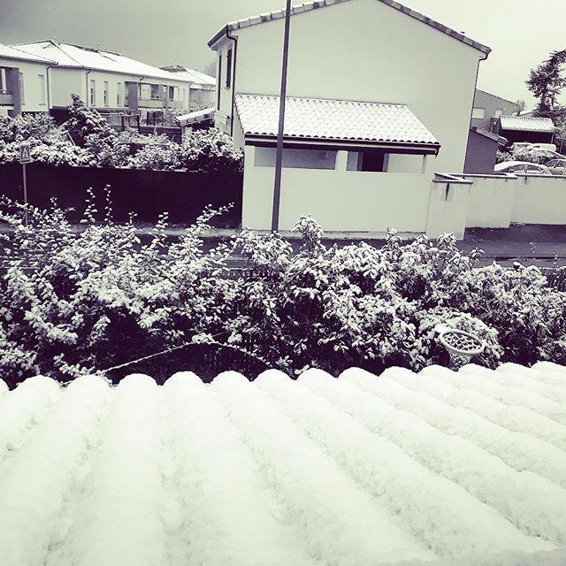 Notre #8ans a demandé de la neige pour son anniversaire.  On a fait le nécessaire... Désolé pour la gêne occasionnée car pour quil neige à @Toulouse il fallait faire neiger partout en France. (Par contre les agriculteurs on y est pour rien donc pas la peine de gueuler hein).