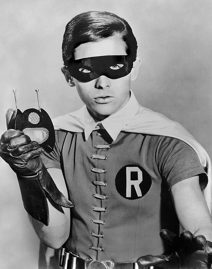 Robin/Dick Grayson (Burt Ward) with the Bat-Radio