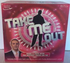 TAKE ME OUT BOARD GAME - BY ROCKET GAMES - DATING PADDY MCGUINNESS TV SHOW COMPLETE VGC