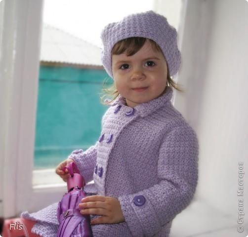 Схема детского пальто 1 года для девочки и описания работы