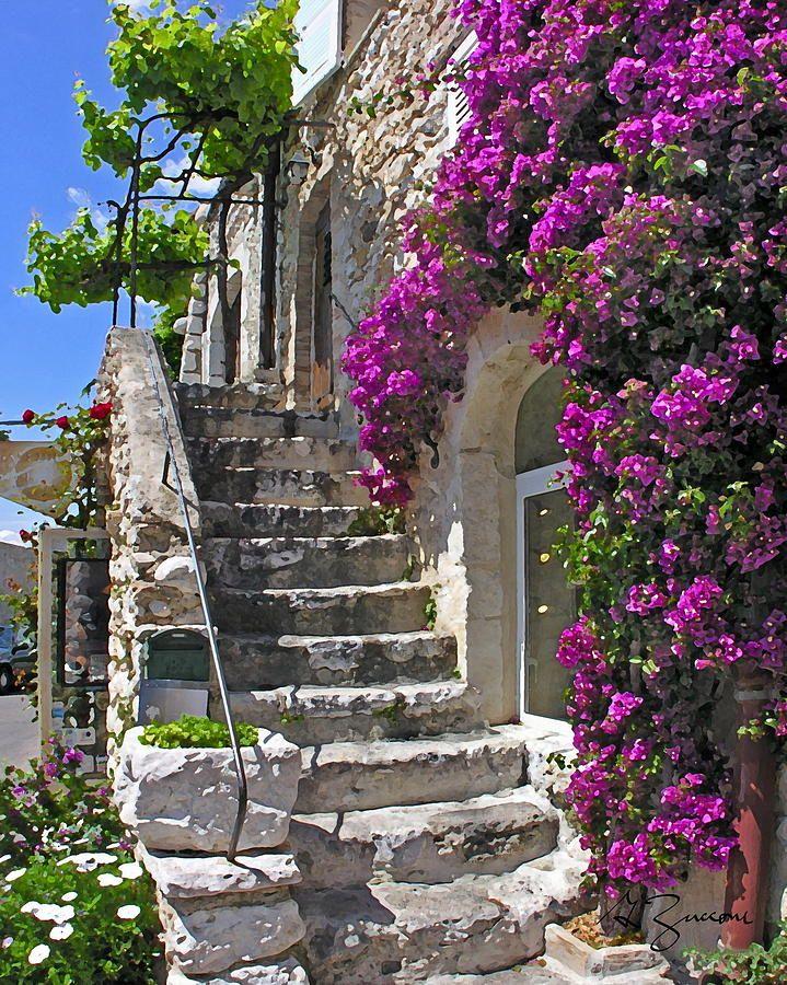 ღღ Stone Steps St. Paul De Vence Provence