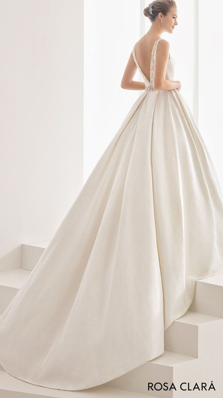rosa clara 2017 bridal sleeveless bateau neck full embellishment conservative classic ball gown wedding dress pockets low v back chapel train (namibia) bv -- Rosa Clará 2017 Bridal Collection