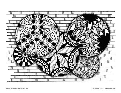 Adult Coloring Page Fun Circles And Geometric Patterns To Color In This Printable