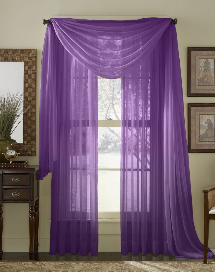 95 Long Sheer Curtain Panel Purple Purple Home Pinterest Curtains Sheer