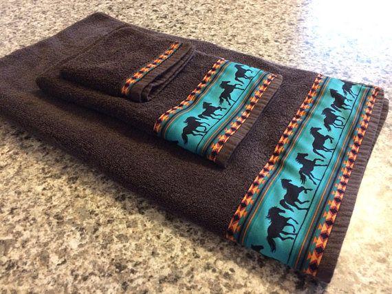 Western Towels Brown Towels Western Bathroom Western