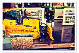 Moline, IL - John Deere Pavilion. The legend of John Deere lives on at the world's most comprehensive agricultural exhibit. Showcases vintage and modern-day equipment, interactive agricultural displays and feature film. Largest collection of John Deere merchandise anywhere.