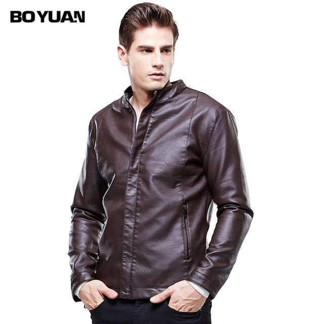 Fair price BOYUAN Mens Leather Overcoat Jaquetas Masculina Em Couro Leather Jacket Men Cazadora Piel Hombre Jaqueta De Couro Masculina 8607 just only $36.82 with free shipping worldwide  #jacketscoatsformen Plese click on picture to see our special price for you