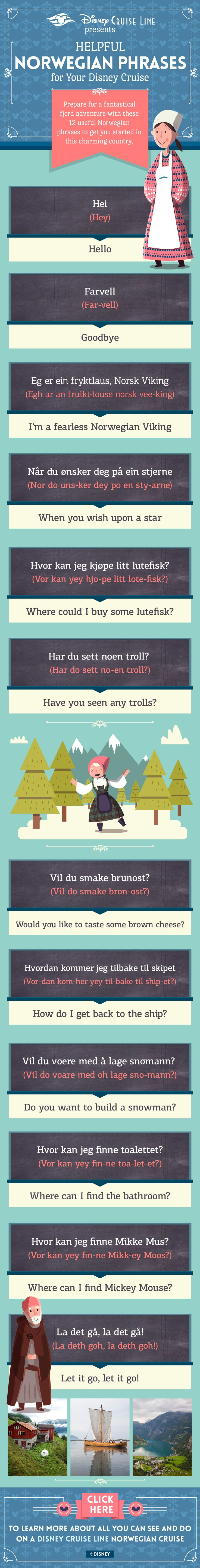 Disney Cruise Phrases | Norsk