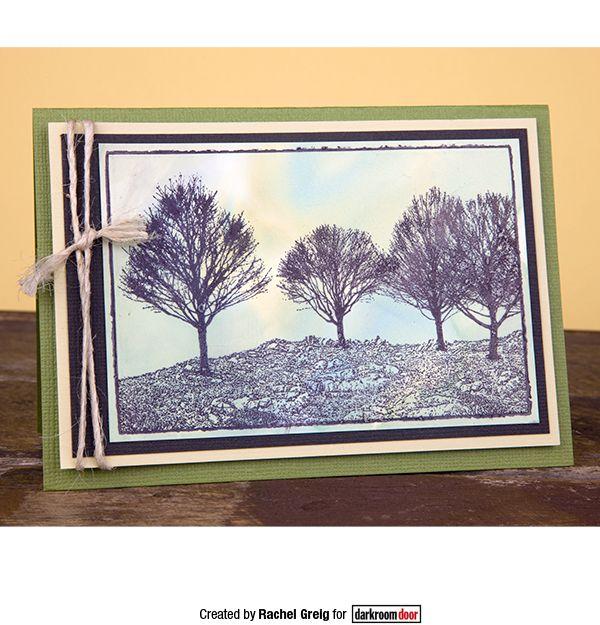 Card by Rachel Greig using Darkroom Door Photo Stamp - Tree Line
