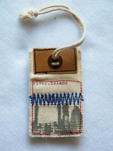 river island stitched hang tag