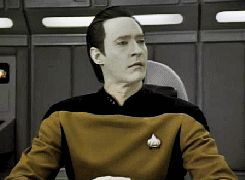 Data Perplexed Animated GIF from Star Trek The Next Generation.