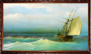 Корабль в открытом море - Морской пейзаж <- Картины маслом <- Картины - Каталог | Универсальный интернет-магазин подарков и сувениров