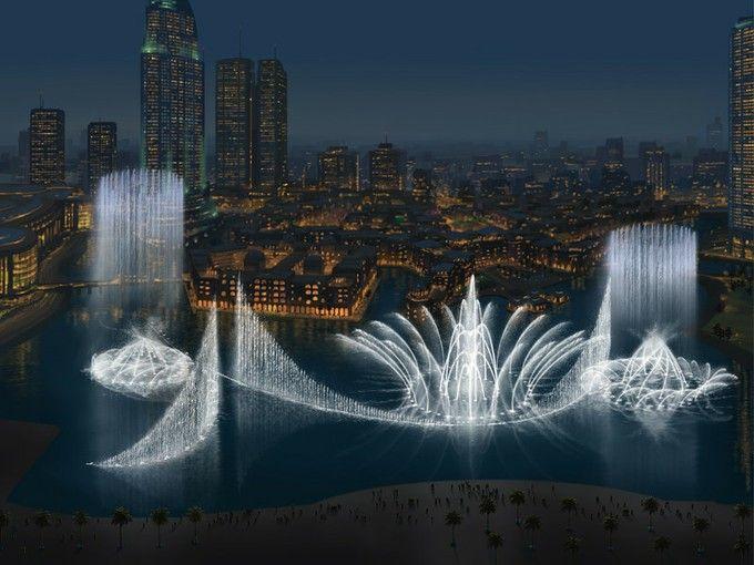 世界最大の噴水!「ドバイファウンテン」大迫力の噴水ショー | RETRIP