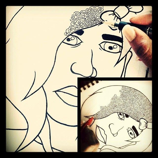The start of something beautiful, I hope... #sholayissau #inkypen #drawing #face #workinprogress #artthursday #artstagram #illugram