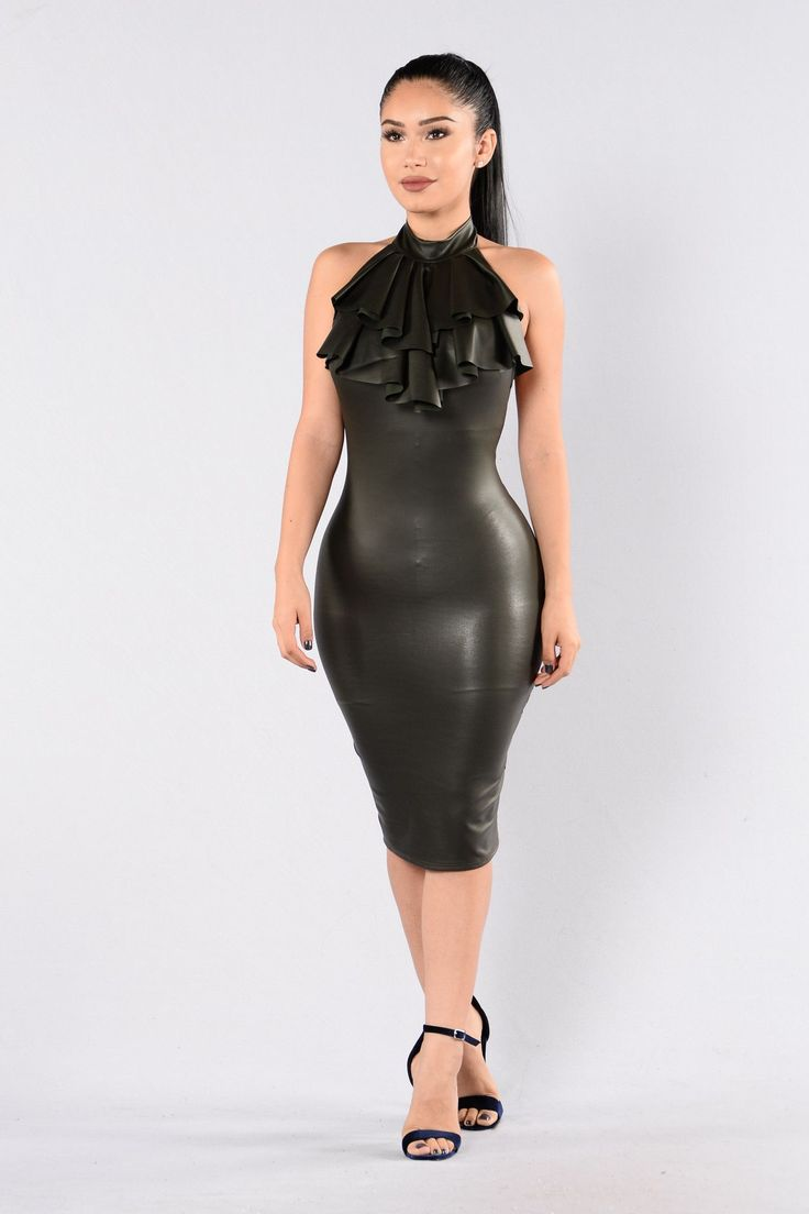 Kiss On The Lips Dress - Olive
