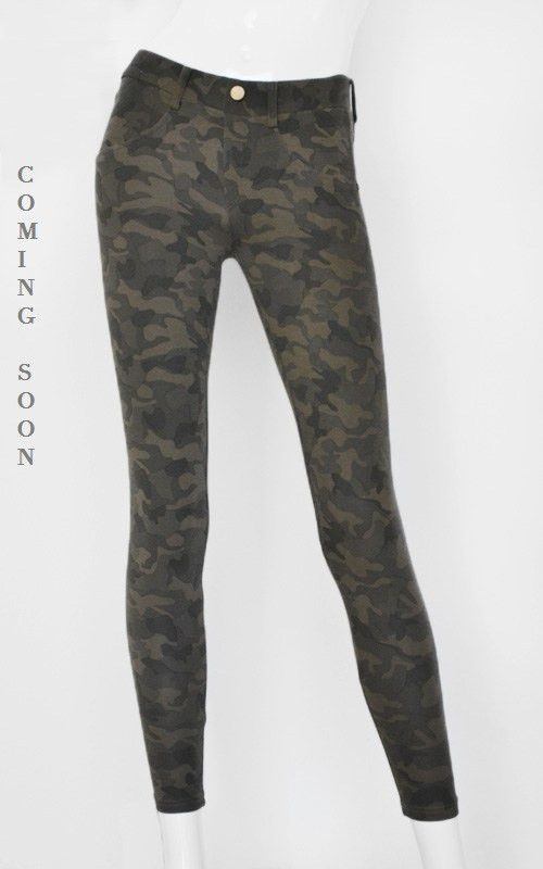 Camo Skinny (Coming Soon) | Awfully Pretty Shop We love these comfy camo skinnies! They can be dressed up and dressed down. Can pair with a lightweight knit and leather boots, or with a neutral blouse and bootie heels.
