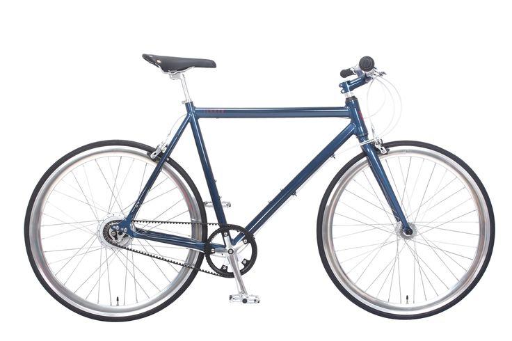 Fixie bike   Amsterdam Elite NuVinci Deep Blue   Lekker Bikes