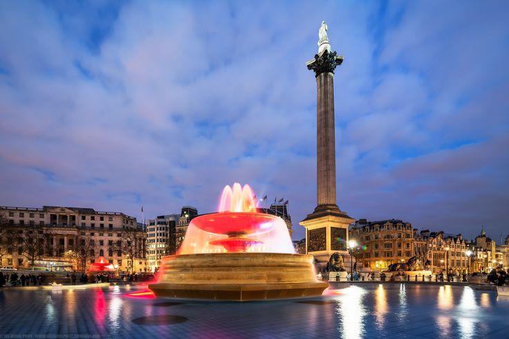 Nelson's Column, Fountain, Trafalgar Square, London, England by Joe Daniel Price on 500px