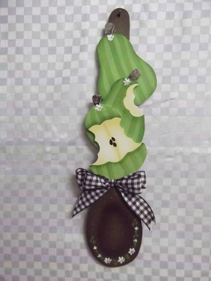 Colher decorada pera | Artesanatos Ingrid Carvalho | 16E4DE - Elo7