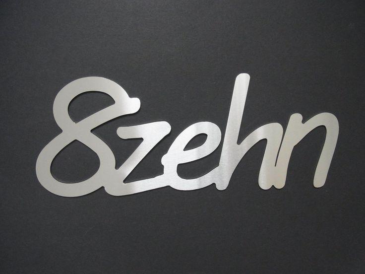 Hausnummern - Edelstahl Hausnummer Schreibschrift Achtzehn - ein Designerstück von THaz-Edelstahldesign bei DaWanda