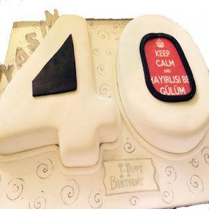 40 Yaş Doğum Günü Pastası Rakamlı  #butikpasta #yetişkinbutikpasta #doğumgünüpastası #40yaşpasta #kırkyaşpasta