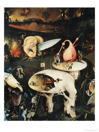 The Garden of Earthly Delights: Hell, Right Wing of Triptych, circa 1500