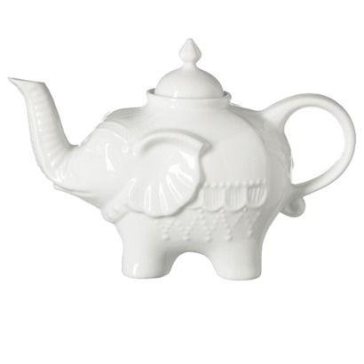 Elephant Teapot28Oz, Teas Time, Teas Kettle, Elephant Teas, Teas Pots, White, Elephant Teapots, Things, Tea Pots