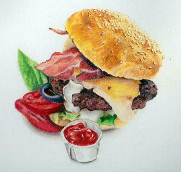 Burger drawing by akdizzle