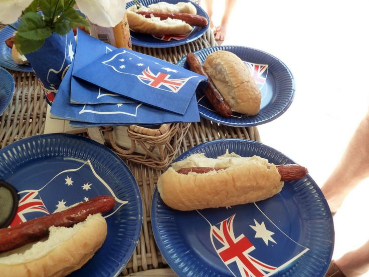 australian themed party menu